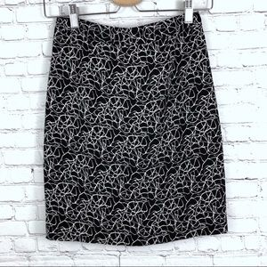 A.L.C Pencil Mini Skirt Black & White